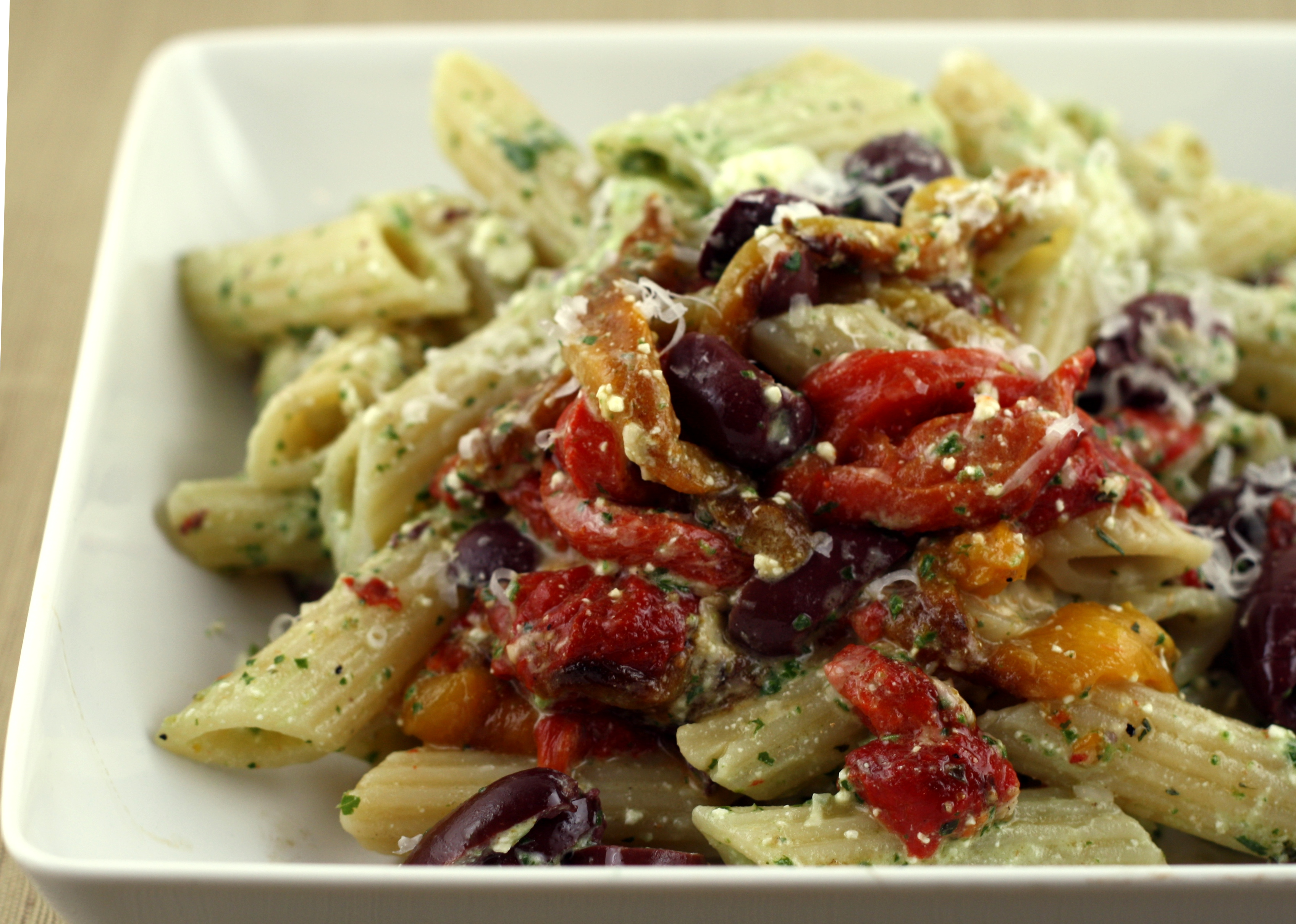 and olives heirloom tomato basil pasta with olives and feta roasted ...